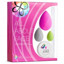 beautyblender ALL ABOUT FACE - Набор Спонжи для макияжа + саше мыло 3шт + 1шт