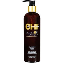 CHI Argan Oil Plus Moringa Oil Shampoo - Восстанавливающий шампунь с маслом арганы 355мл
