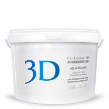 Collagene 3D Mask AQUA BALANCE - ПРОФ Альгинатная маска для лица и тела с гиалуроновой кислотой 1200гр