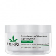 HEMPZ Body Scrub Fresh Coconut & Watermelon Sugar - Скраб для Тела Кокос и Арбуз 176гр