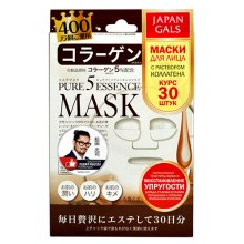 JAPAN GALS Pure 5 Essence MASK - Набор масок для лица с КОЛЛАГЕНОМ 30шт